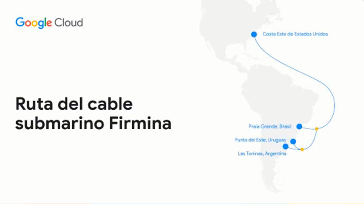 Google anunció un cable submarino entre Argentina y Estados Unidos