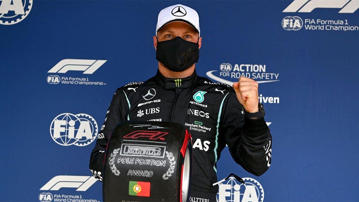 Bottas dejó a Hamilton sin la pole número 100
