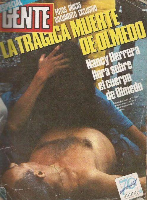 Las impactantes fotos de Olmedo en el día de su muerte