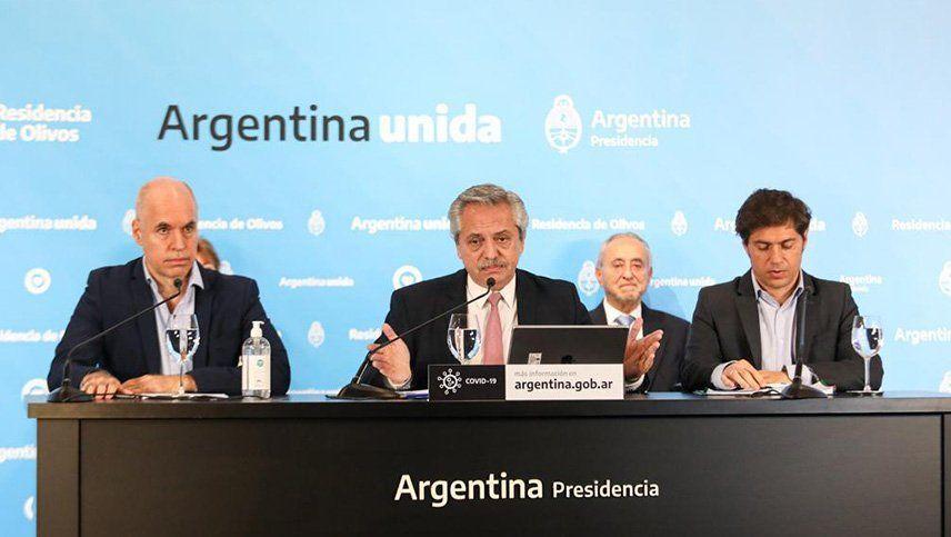 El Presidente se reunirá con Larreta y Kicillof para delinear la nueva cuarentena