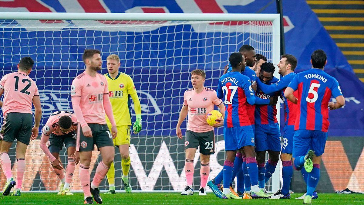 Crystal Palace venció 2 a 0 al Sheffield United