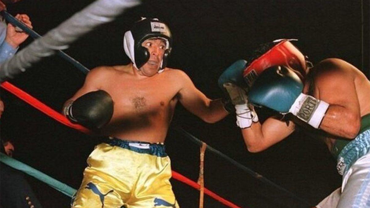 El día que Maradona se subió a un ring