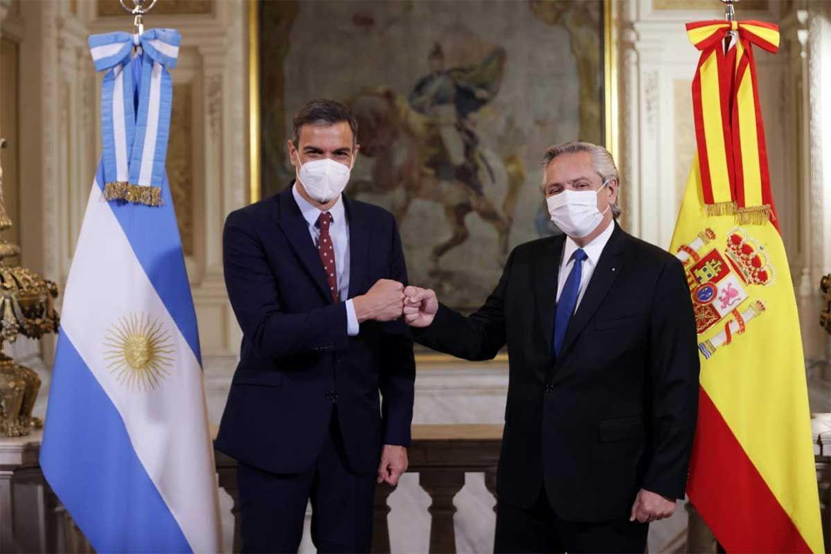 Alberto Fernández y su par Pedro Sánchez encabezaron un encuentro con empresarios de ambos países en Casa Rosada