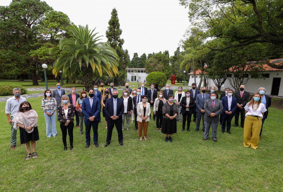 Reunión cumbre de todos los ministros de Educación del país con el ministro Nicolás Trotta y el presidente Alberto Férnandez en la Residencia de Olivos.