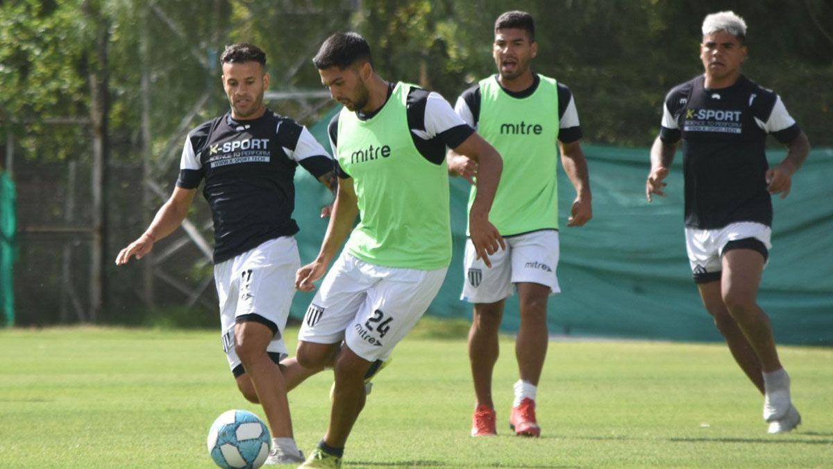 El Lobo hizo fútbol en el Víctor Legrotaglie. Foto: gentileza Prensa Gimnasia y Esgrima.
