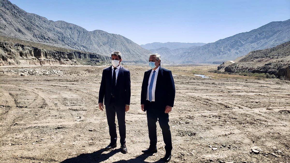 El Presidente junto al gobernador de San Juan