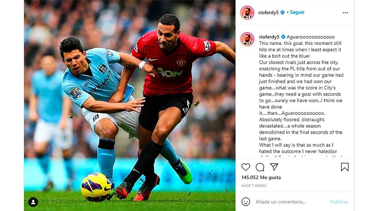 Rio Ferdinand y unas sentidas palabras para el Kun Agüero