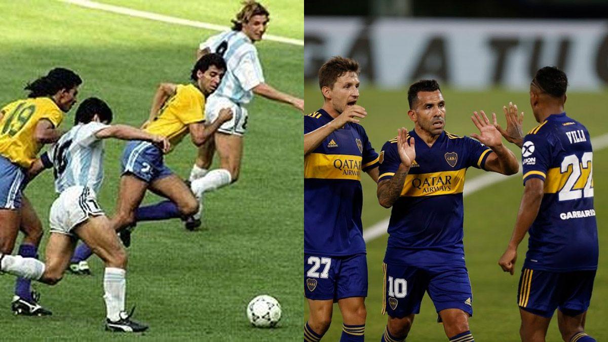 Compararon el pase de Tevez con el de Maradona al Cani