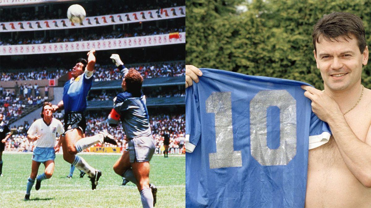 Tiene la camiseta original que Maradona usó ante Inglaterra