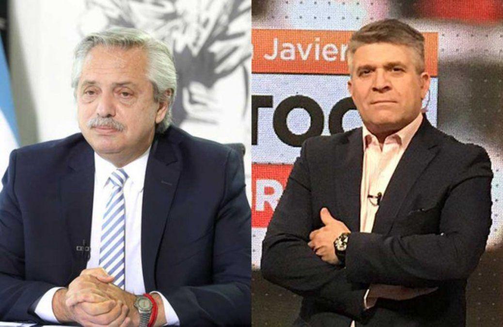 Alberto Fernández le respondió con ironía a Javier Díaz.
