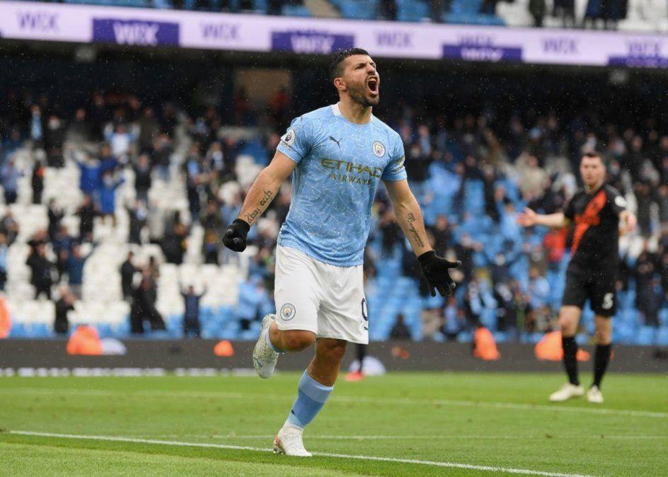 El Kun Agüero y una despedida de lujo en el Manchester City