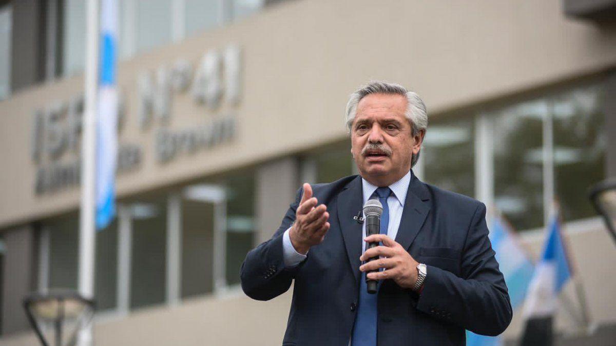 Alberto Fernández elaboró un encendido discurso.