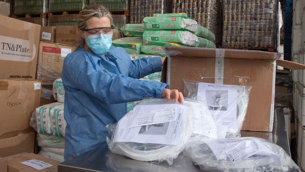 Mendoza recibió los primeros 10 cascos de oxígeno para tratar a pacientes con Covid-19