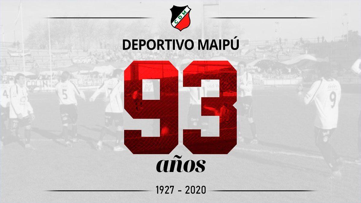Deportivo Maipú recibió muchísimos saludos en su aniversario