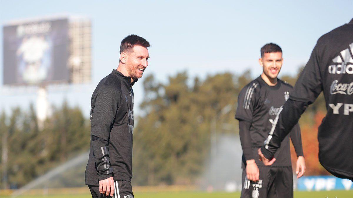 Messi se entrenó con la Selección Argentina
