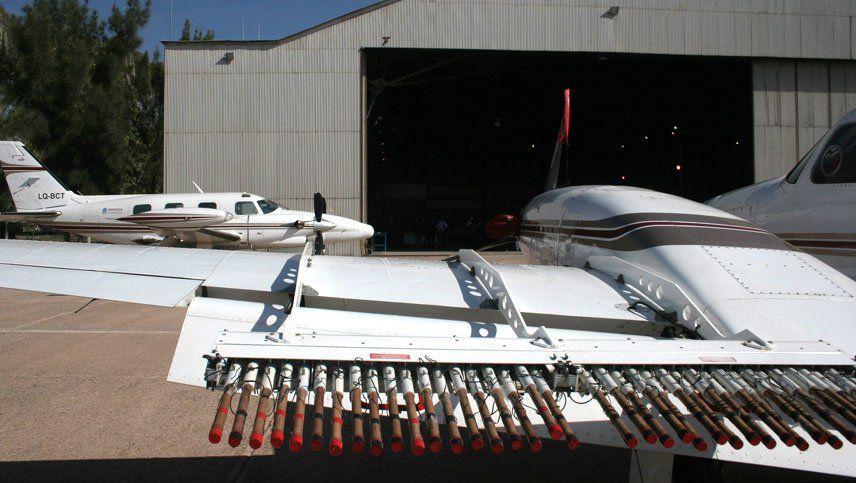 Esta temporada los aviones antigranizo atacaron tormentas durante 63 días