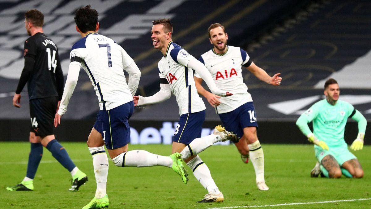 Tottenham, con gol de Lo Celso, le ganó al Manchester City