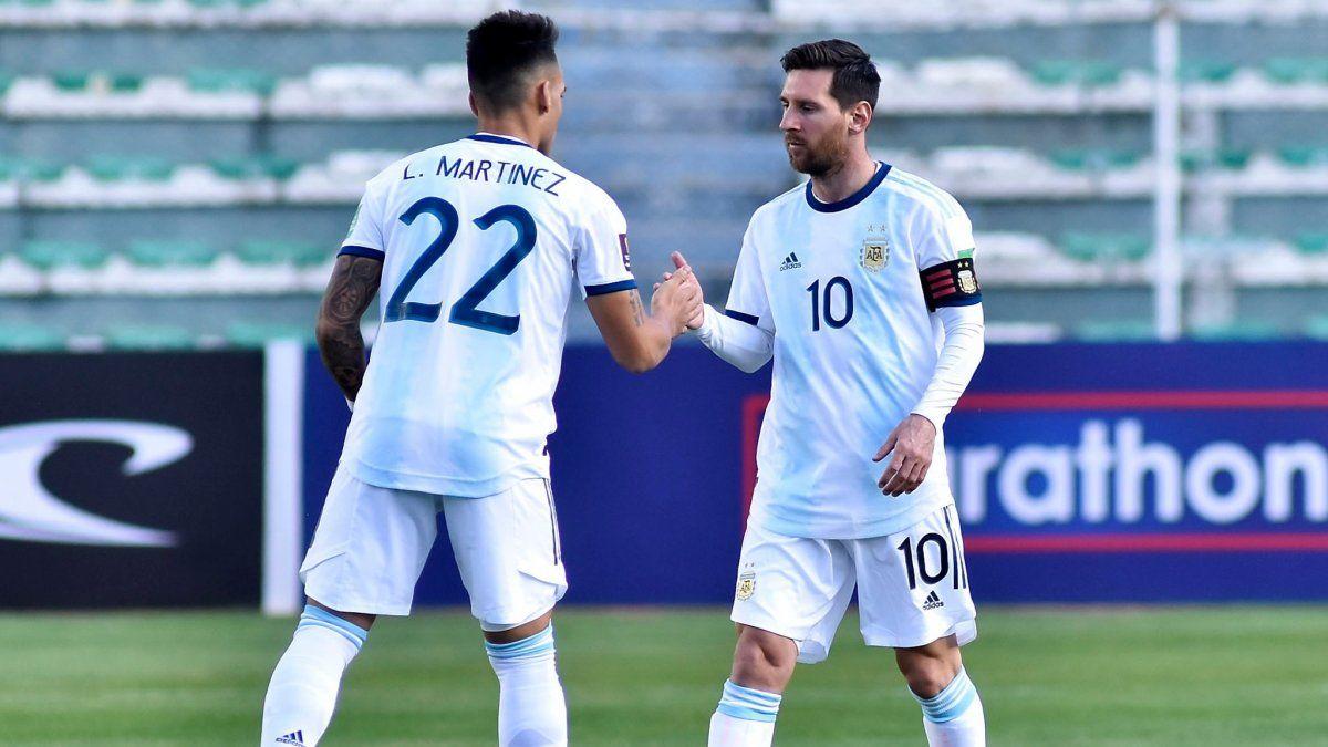 La selección argentina ganó dos partidos en octubre.