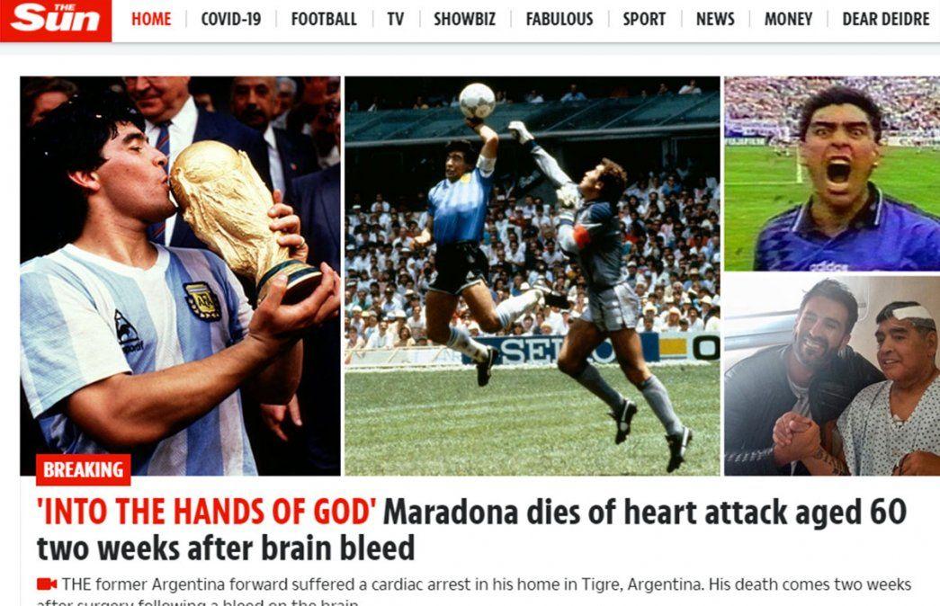 Murió Maradona y así lo reflejaron los grandes diarios del mundo