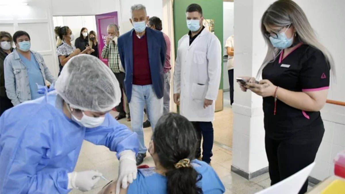 Vacunación en San Luis.
