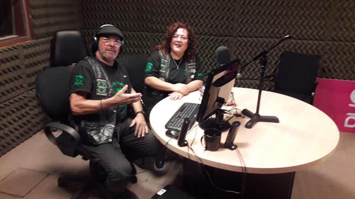 Patricia Vietti y Sergio Quaglia en el estudio.