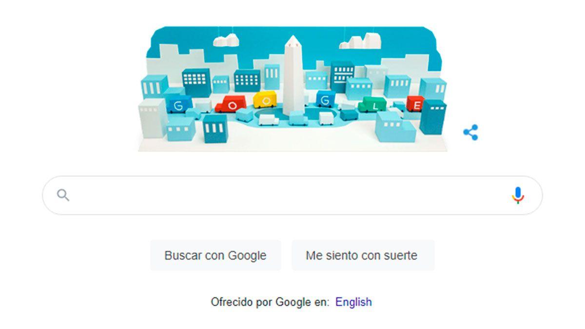 Obelisco de Buenos Aires: Google celebra su aniversario