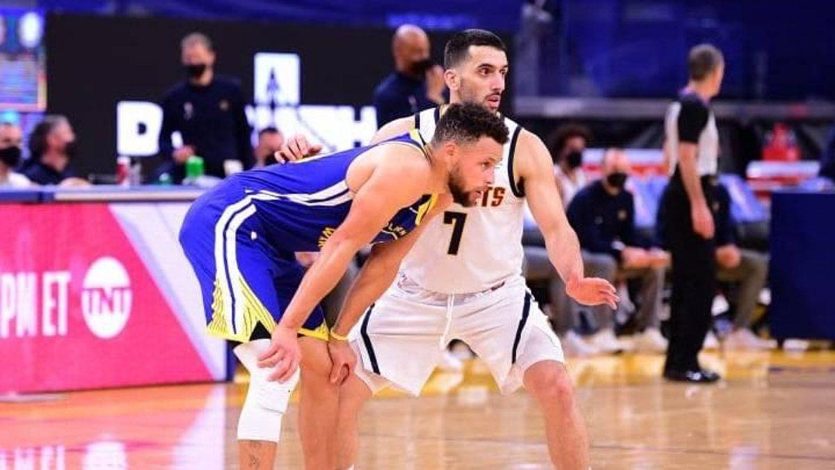 Campazzo sufrió a Curry, quien lo provocó con un grito
