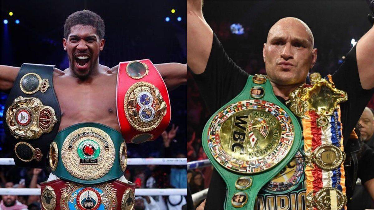 Anthony Joshua y Tyson Fury unificarán todos los títulos pesados