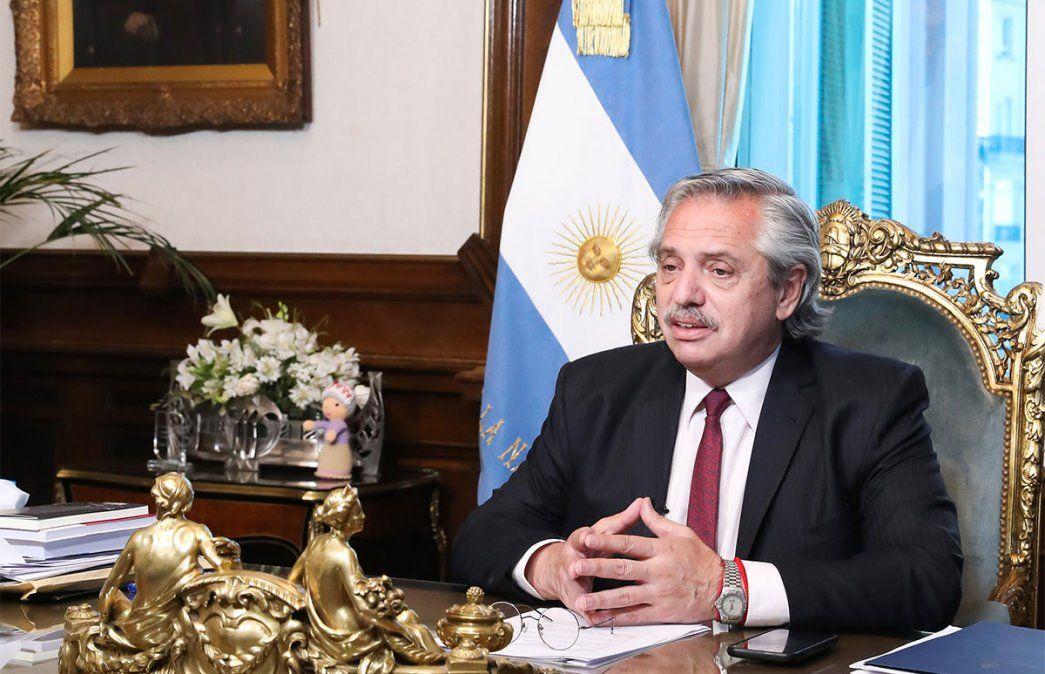 Mensaje para el FMI: Alberto Fernández aseguró que esta vez el ajuste no lo van a pagar los más humildes sino los que especularon. Foto: NA.
