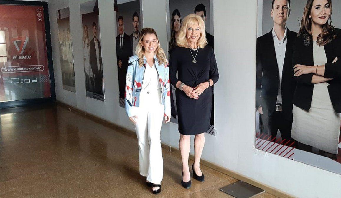 Clara Ceschin y Lila Levinson: dos generaciones de El Siete juntas en los festejos.