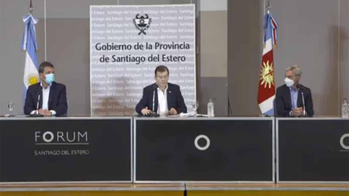 Massa y Meoni anuncian obras en Santiago del Estero junto al gobernador Zamora