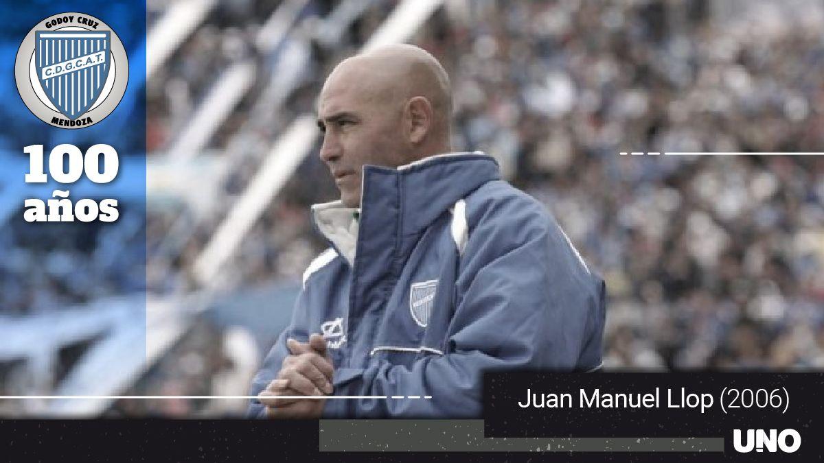 El Chocho Juan Manuel Llop fue el entrenador que le dio al Tomba el ascenso a primera división.