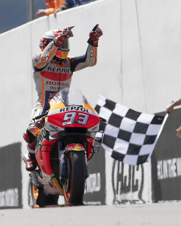Marc Márquez condujo a la Honda a la victoria tras 581 días.