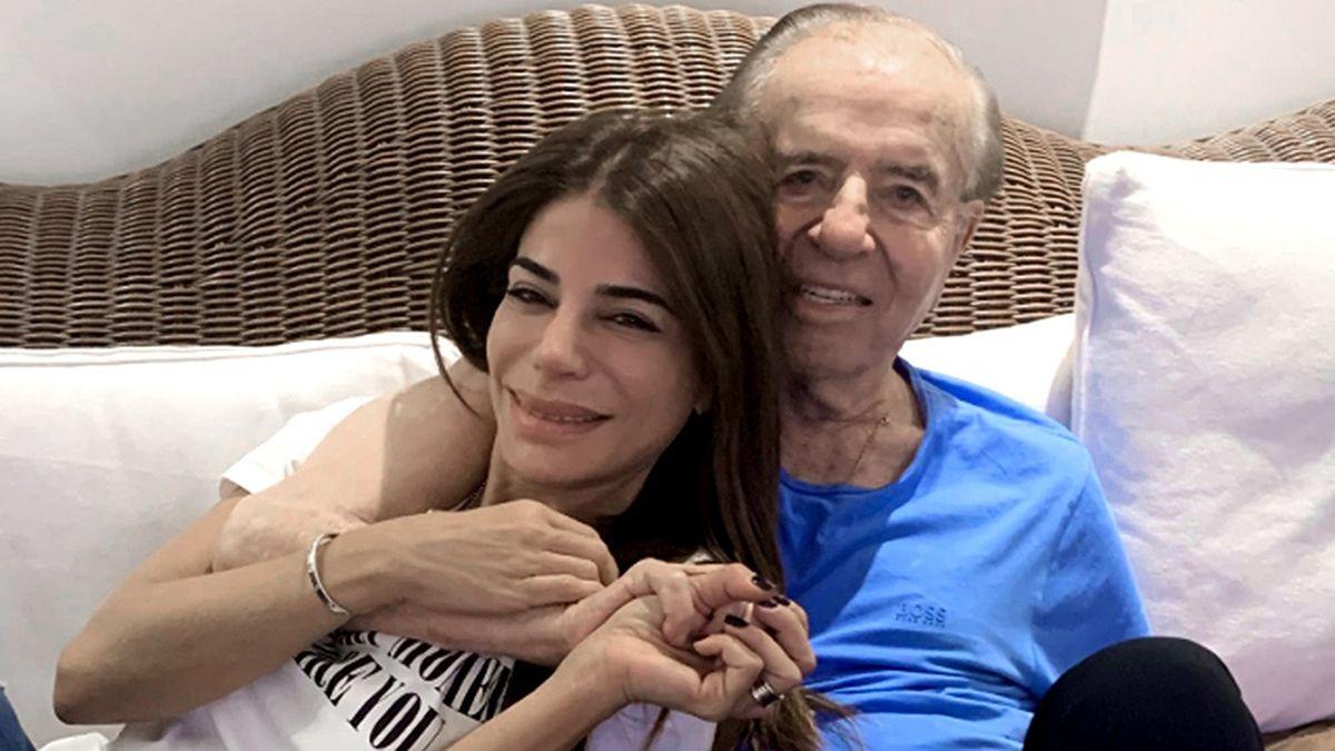 Zulemita y Carlos Menem.