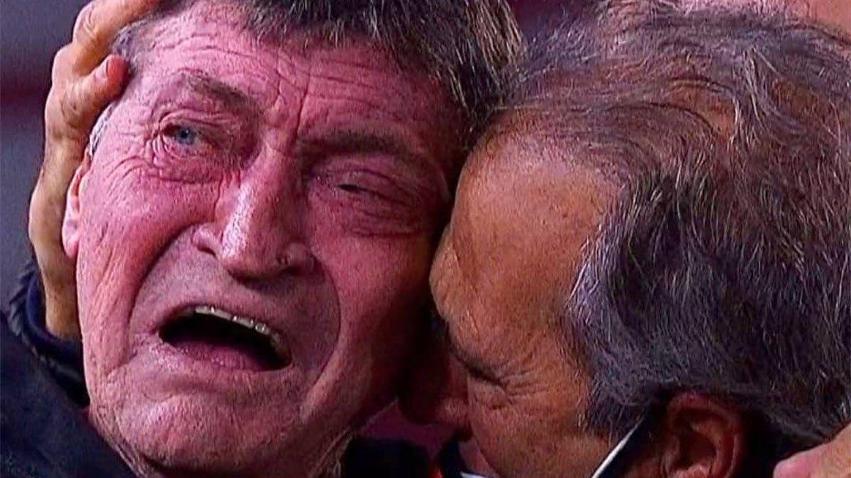 El llanto de Falcioni que emocionó a todos