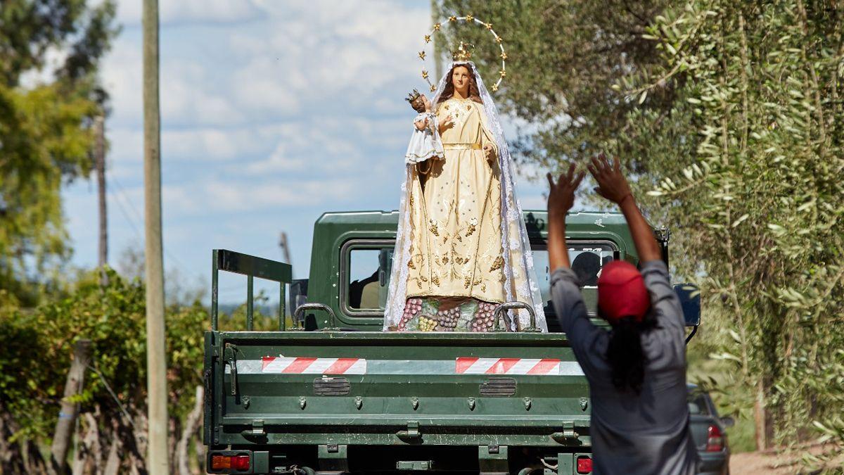 La imagen de la Virgen de la Carrodilla en su templo natural