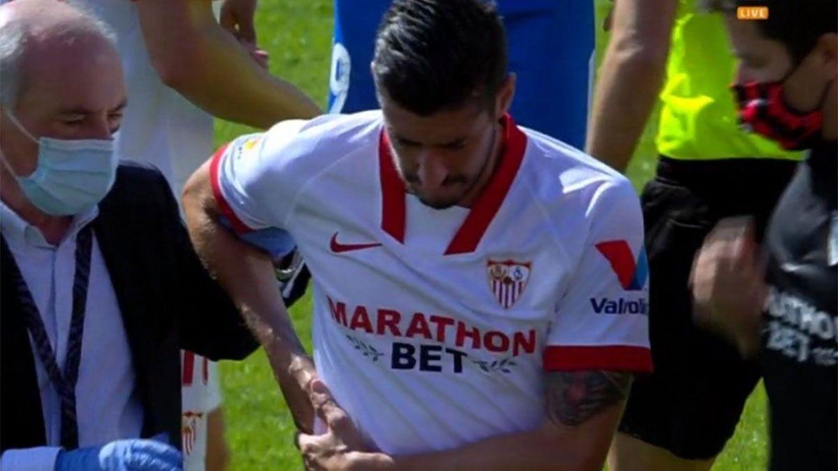 La tremenda lesión que sufrió un jugador del Sevilla