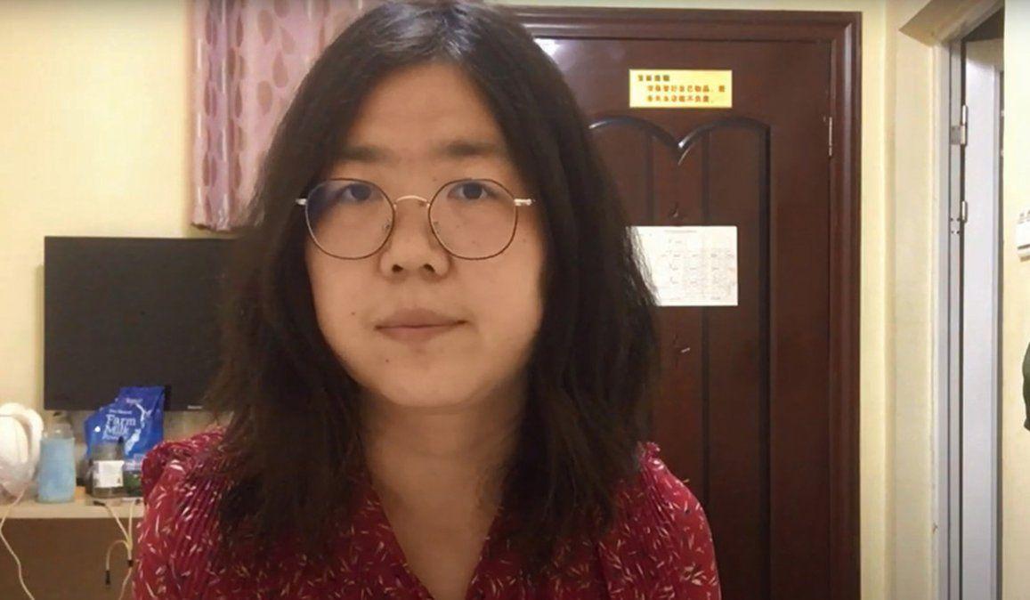 La periodista china Zhang Zhan fue condenada a cuatro años de prisión