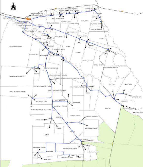 La red de cañerías para el Acueducto Ganadero La Paz.