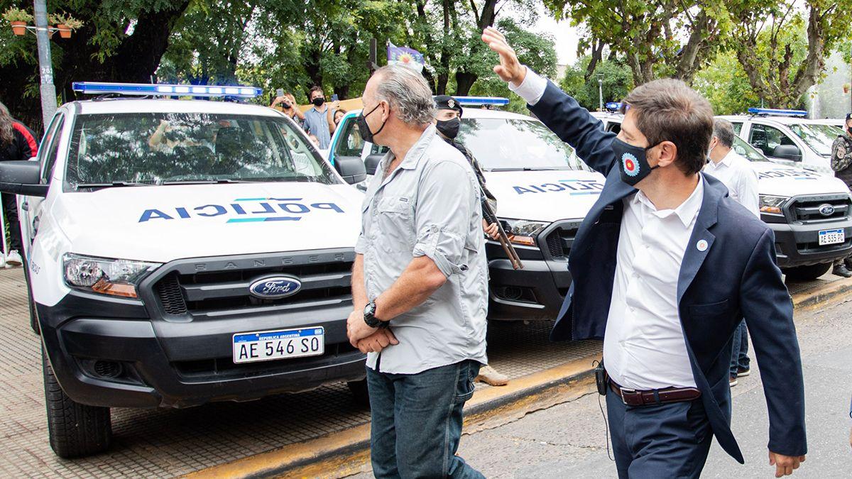 Kicillof y el ministro de Seguridad