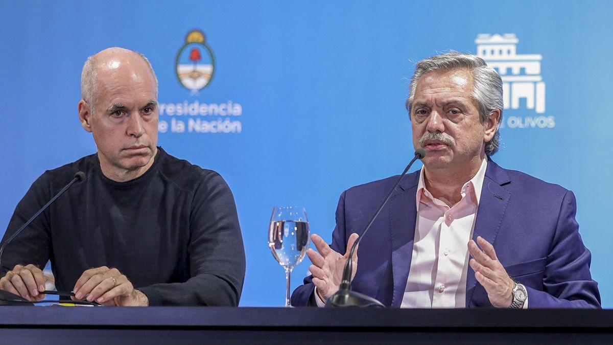 Larreta y Fernández se reunieran este viernes por las nuevas restricciones.