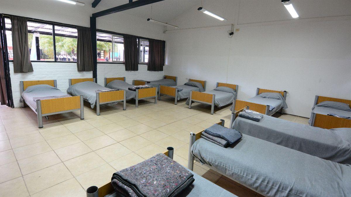 El internado para cadetes del servicio penitenciario de Mendoza.