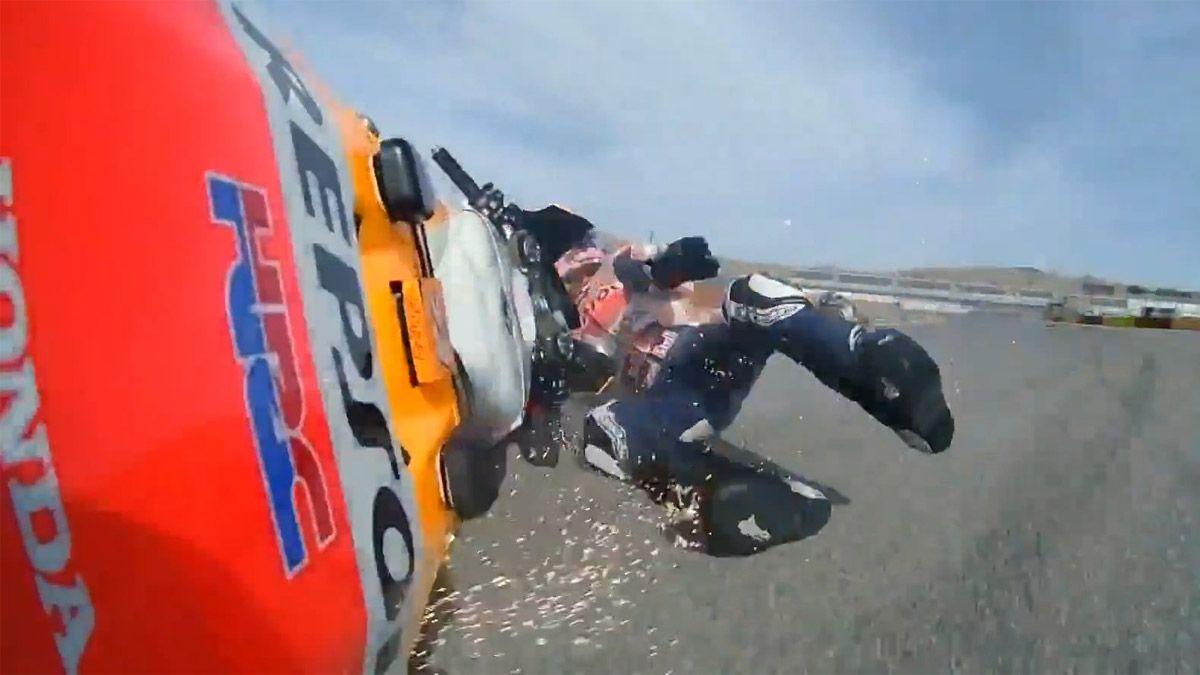 ¡Alex Márquez y una tenebrosa caída!
