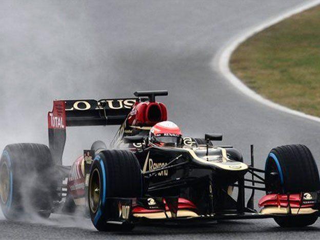 Grosjean dominó las pruebas en Cataluña