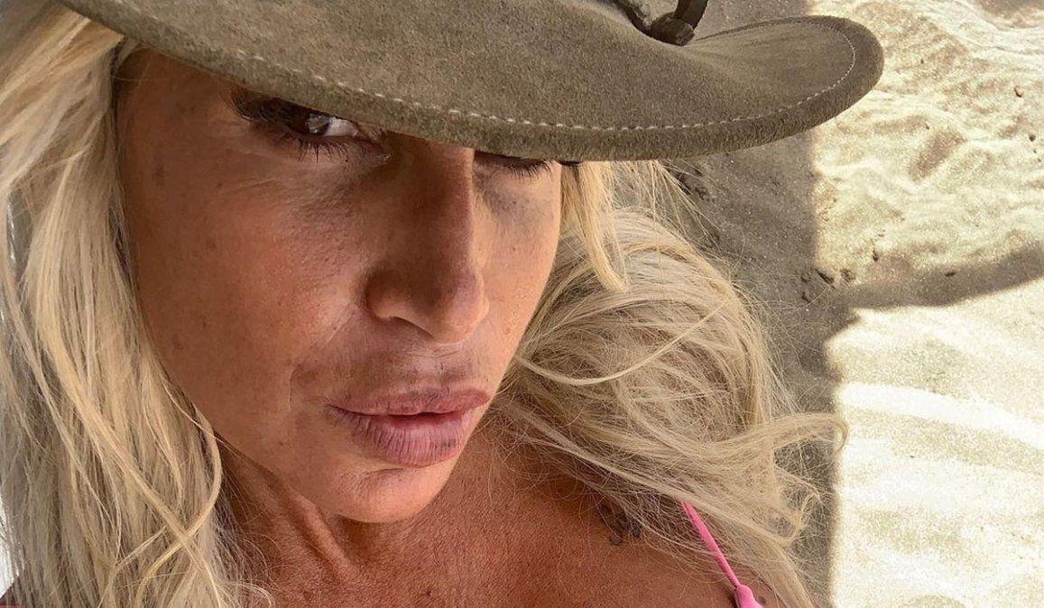 Florencia Peña, en bikini sin filtro: Esas arrugitas