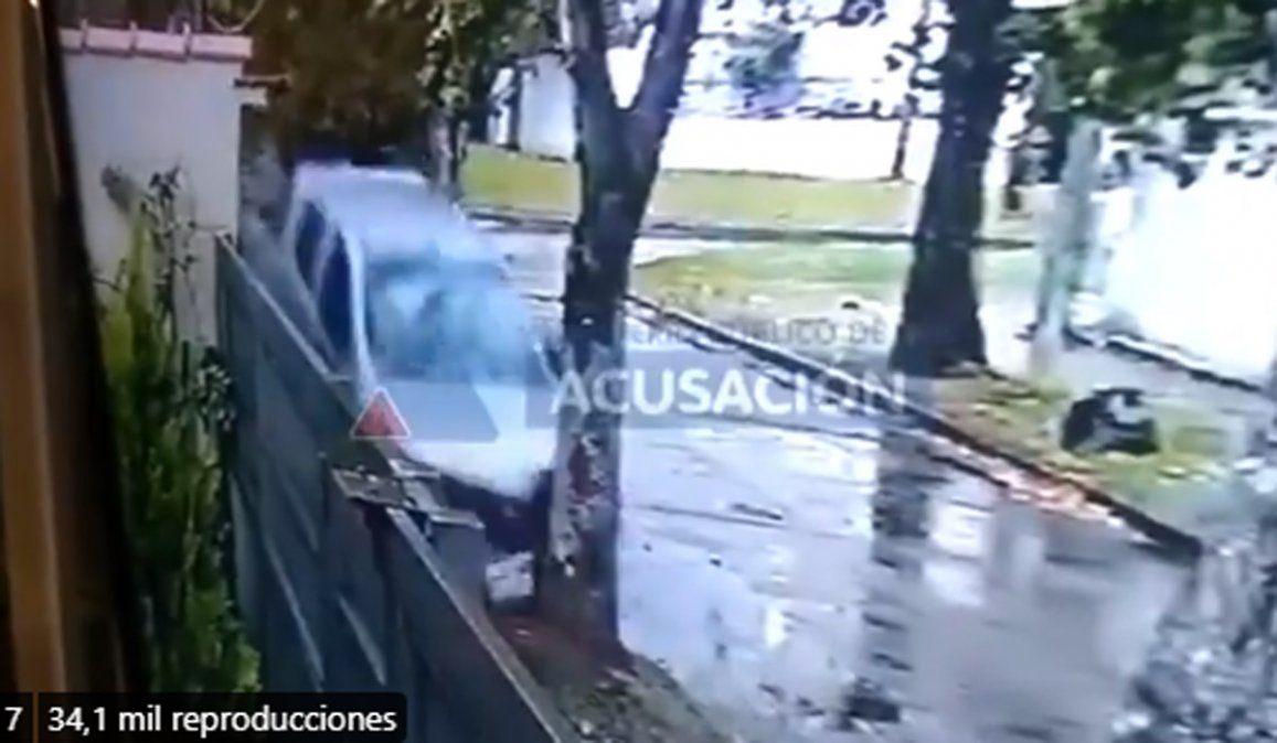 El video que lo dejó preso: tras ser asaltado, persiguió, atropelló y mató a dos motochorros