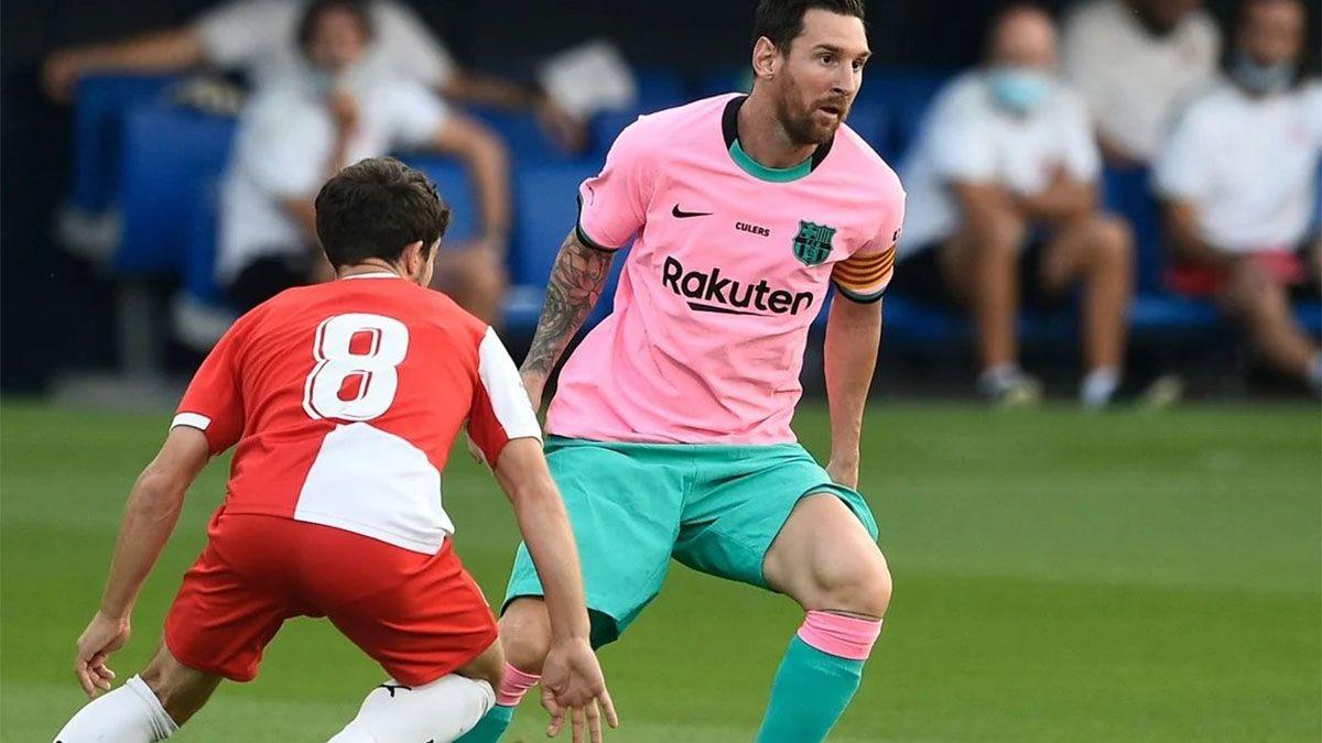 Messi tuvo una muy buena labor en el triunfo de Barcelona ante Girona.