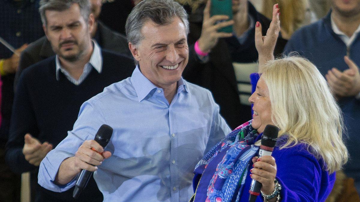Macri y Carrió en otros tiempos.