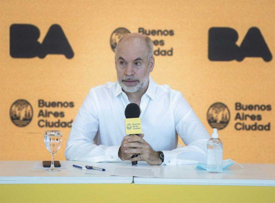 Rodríguez Larreta ratificó que el 17 de febrero habrá un regreso a clases presenciales en la Ciudad de Buenos Aires y anunció testeos cada 15 días a docentes. Foto: NA.