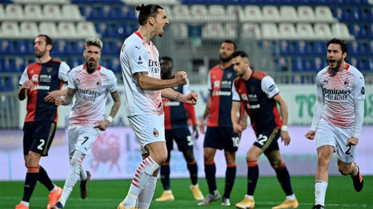 Ibrahimovic logró que el Milan quede otra vez puntero